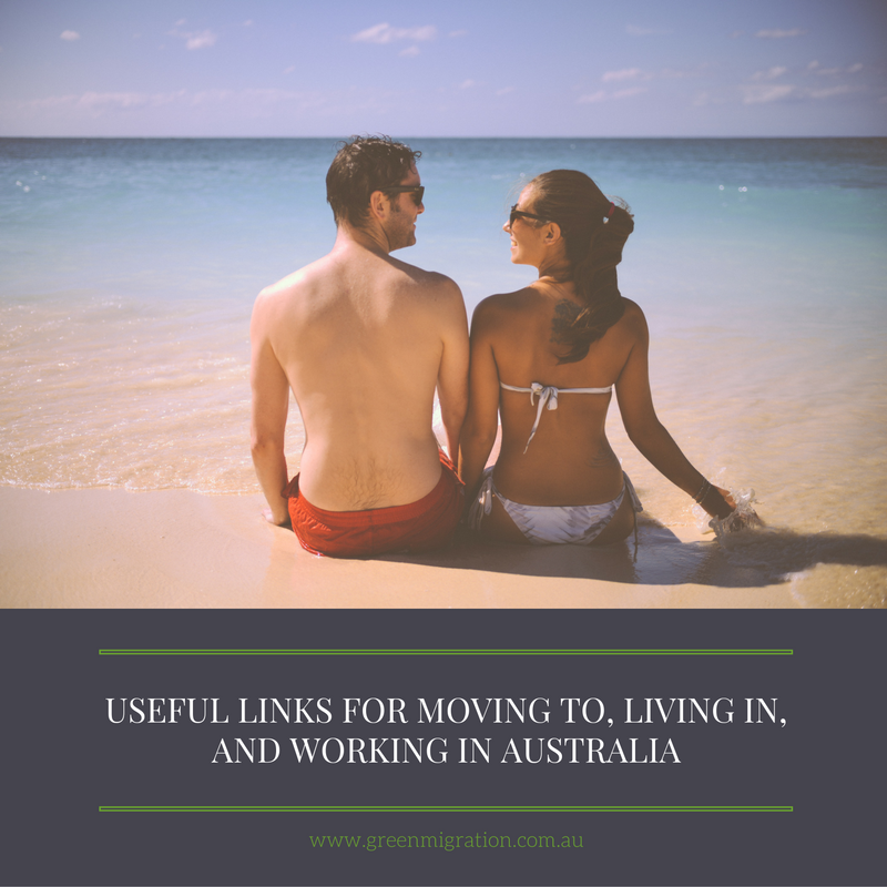 Useful links to help with your move or holiday to Australia